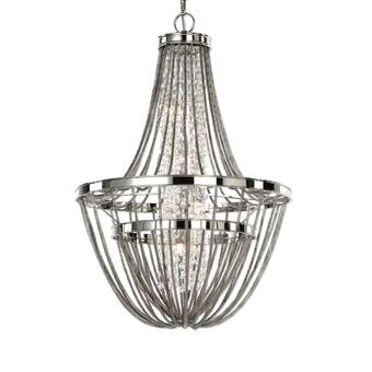 Ophelia Co Karlson 15 Light Candle Style Classic Traditional Chandelier With Wrought Iron Accents Wayfair