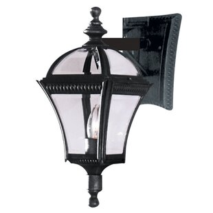 Reviews Camelot 1-Light Outdoor Wall Lantern By Three Posts
