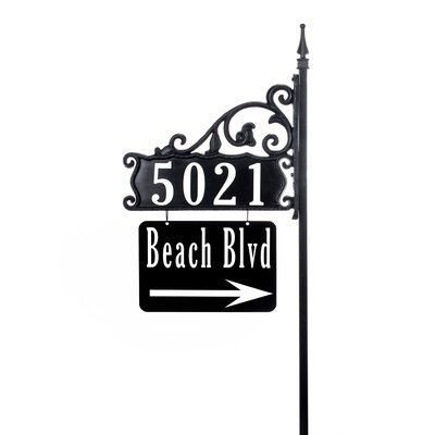 Boardwalk Home 3-Line Double-Sided Reflective Address Sign Address America Customize: Yes