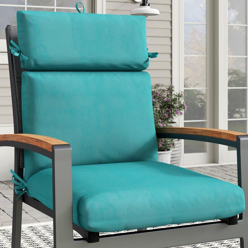 Charlton Home Premium Patio Indoor Outdoor Dining Chair Cushion Reviews Wayfair