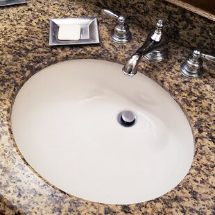 Best Choices Great Point Ceramic Oval Undermount Bathroom Sink with Overflow ByNantucket Sinks