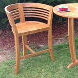 Toby Teak 30 Bar Stool by Rosecliff Heights