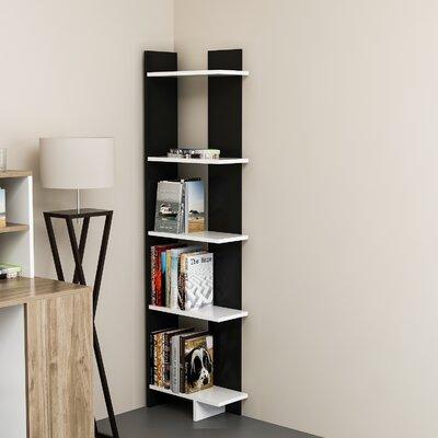 Zipcode Design Lynnfield Corner Bookcase Color (Body/Front): Black/White