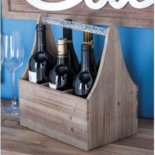 Wood/Acrylic 6 Tabletop Wine Bottle Rack