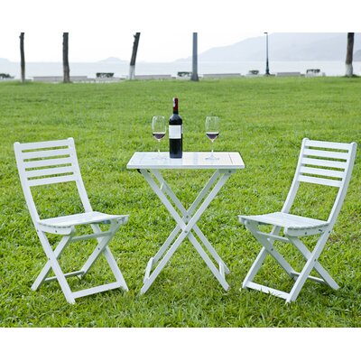 3 Piece Bistro Set Finish: White by HRH Designs