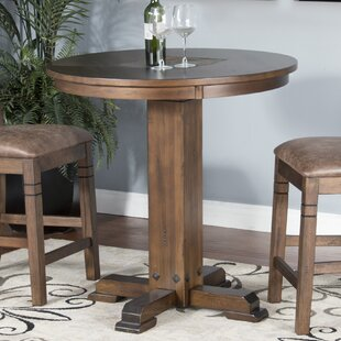 Birney Adjustable Height Pub Table Set Loon Peak