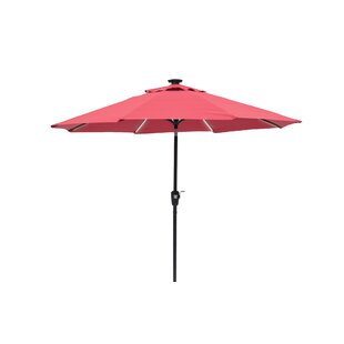 Gussie Solar Lighted 9' Market Umbrella