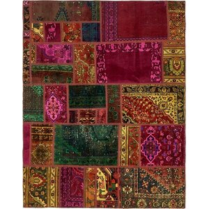 Sela Vintage Persian Hand Woven Wool Yellow/Pink Area Rug with Cotton Backing