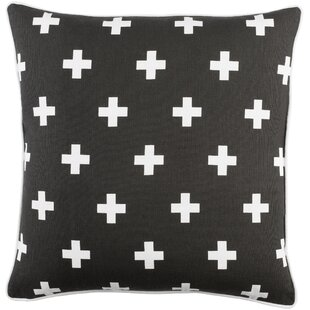 Antonia Cross Cotton Throw Pillow Cover