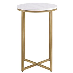 Modern Contemporary White Lacquer Side Table Allmodern