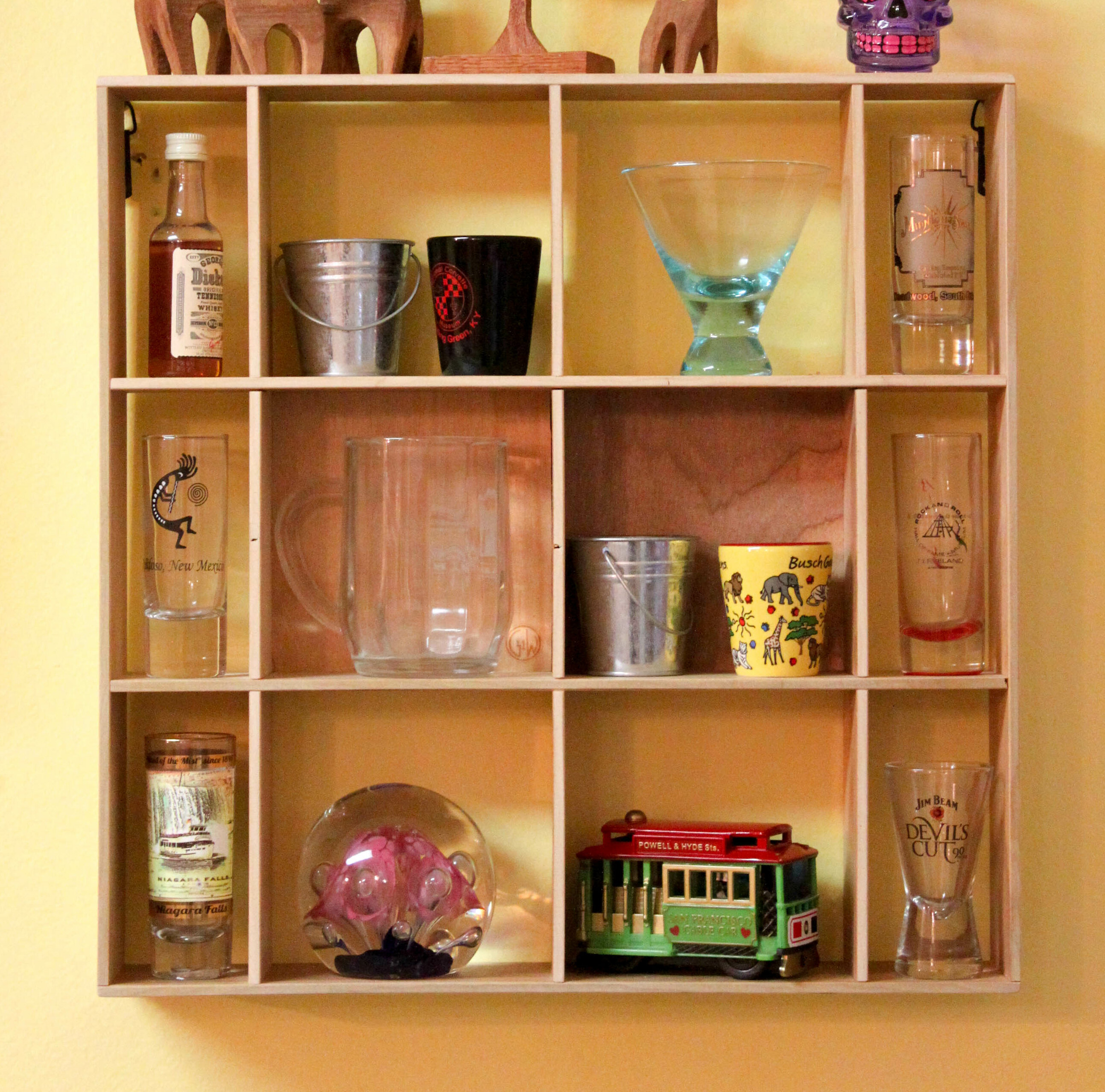 Hogu Shadow Box 2 Panel Wall Shelf