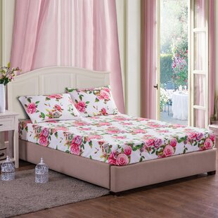 Mahnomen Romantic Roses Floral 100% Cotton Sheet Set