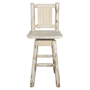 Rochester 30 Swivel Solid Wood Barstool Loon Peak