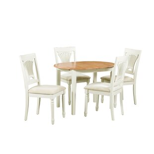 Shippy 5 Piece Extendable Solid Wood Dining Set August Grove