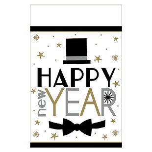 New Year's Dapper Night Plastic Table Disposable Cloth (Set of 3)