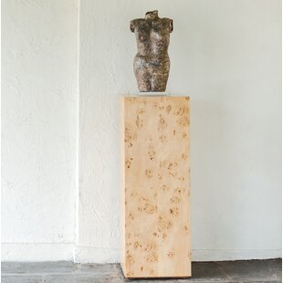 Chloé Burl Pedestal End Table