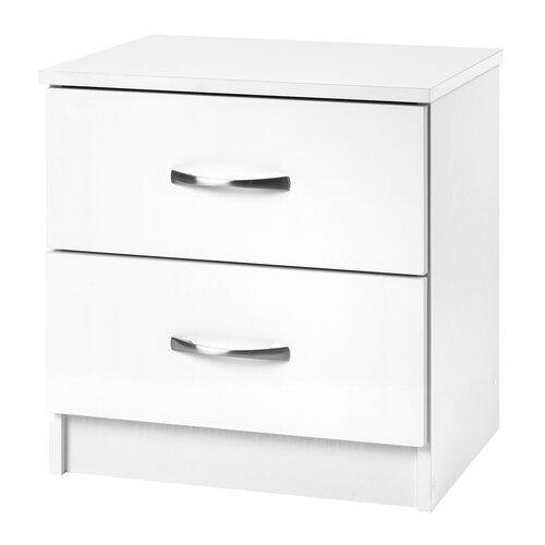 Nachttisch Chaz | Schlafzimmer | Weiß/weiß | Laminat - Papier | Hokku Designs