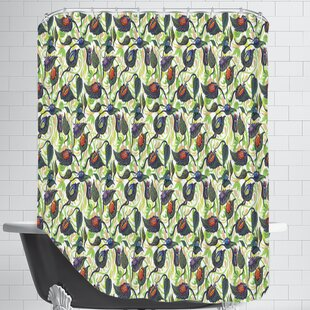Bugs&Leafs CaraKozik Single Shower Curtain