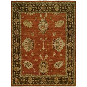 Callao Hand-Knotted Brown/Red Area Rug