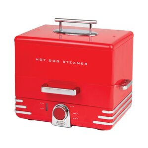 Diner Style Hot Dog Steamer With Lid