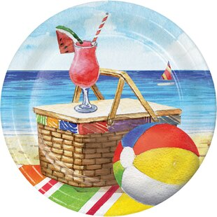 Breezy Beach Paper Disposable Dessert Plate (Set of 24)