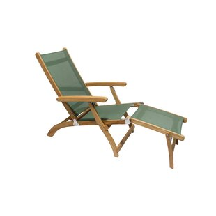 Dominquez Reclining Teak Chaise Lounge