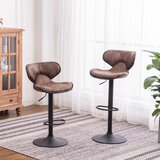 Avalyn Swivel Adjustable Height Bar Stool (Set of 2) by Foundstone™