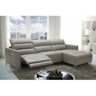 Low priced Cragin Leather Sectional by Orren Ellis Reviews (2019) & Buyer's Guide