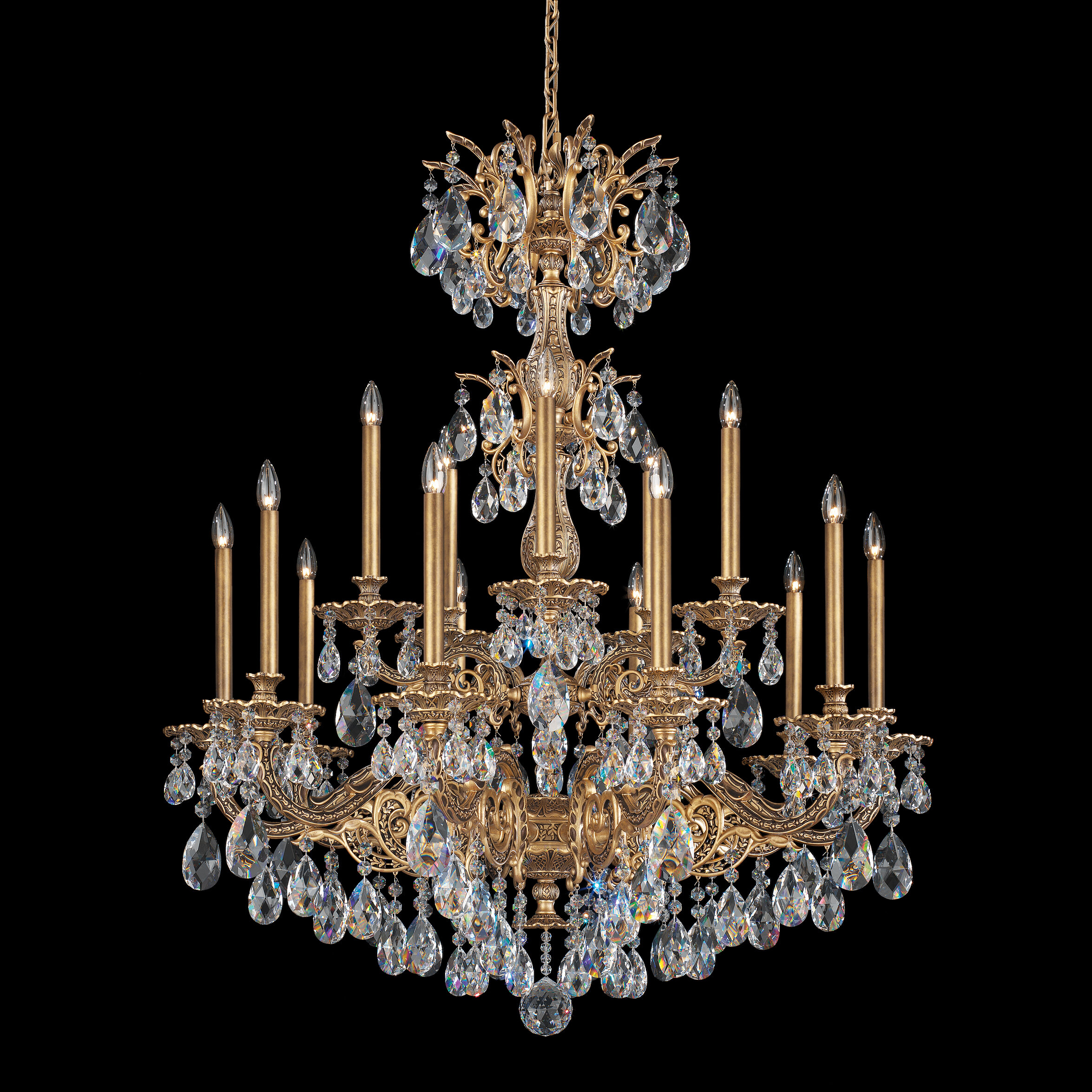 Schonbek Milano 15 Light Candle Style Tiered Chandelier Wayfair