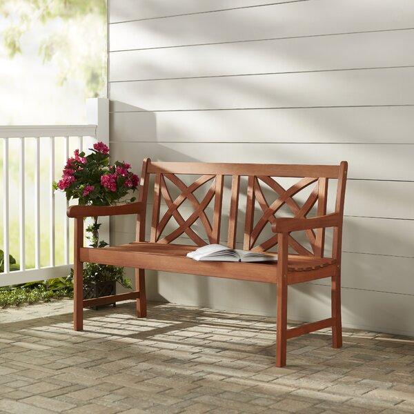 Groovy Lutyens Wood Garden Bench Wayfair Unemploymentrelief Wooden Chair Designs For Living Room Unemploymentrelieforg