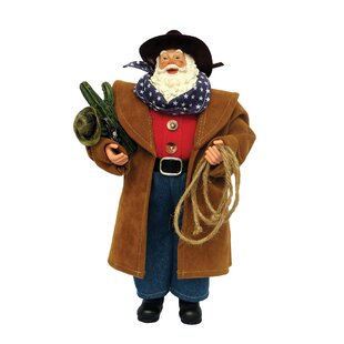 ab869f9d968 Cowboy in Duster Santa Figurine   Collectible