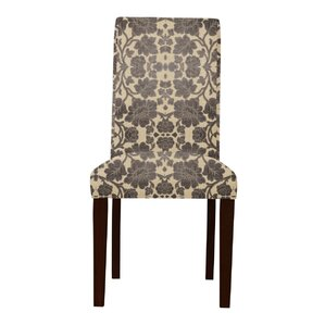 Lattimore Beige/Brown Upholstered Parsons Chair (Set of 2) by Red Barrel Studio