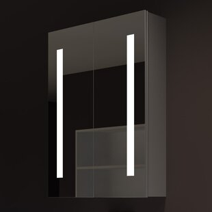Inexpensive Lency 24 x 32 Surface Mount Framed Medicine Cabinet with LED Lighting By Orren Ellis