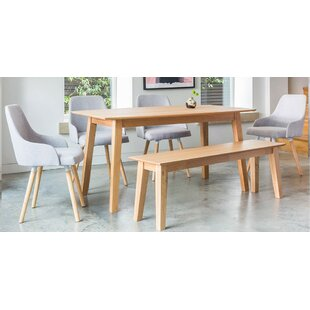 Faldo Dining Set With 3 Chairs And One Bench
