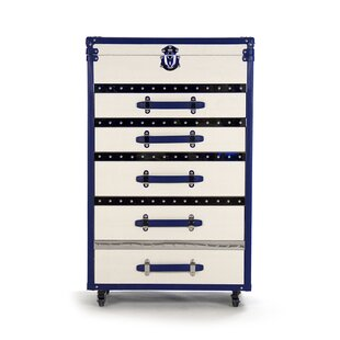 Compare prices Adalyn 5 Drawer Accent Chest By Zentique