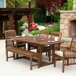 Benat 6 Piece Dining Set with Cushion