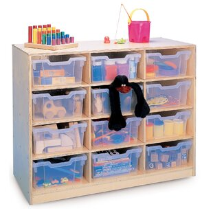 Gratnell 12 Compartment Cubby with Casters byWhitney Brothers