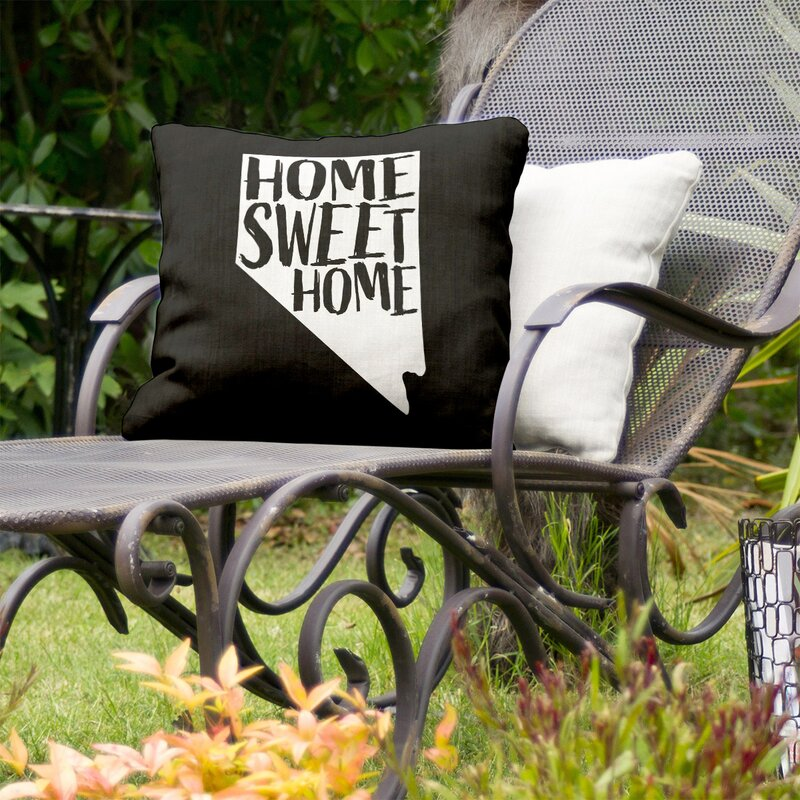 East Urban Home Home Sweet Indoor Outdoor Throw Pillow Wayfair