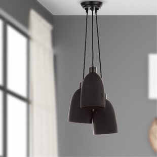Purchase Trappe Shade 3-Light Cluster Pendant By Wade Logan
