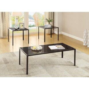 Hauptstueck Sleek 3 Piece Coffee Table Set