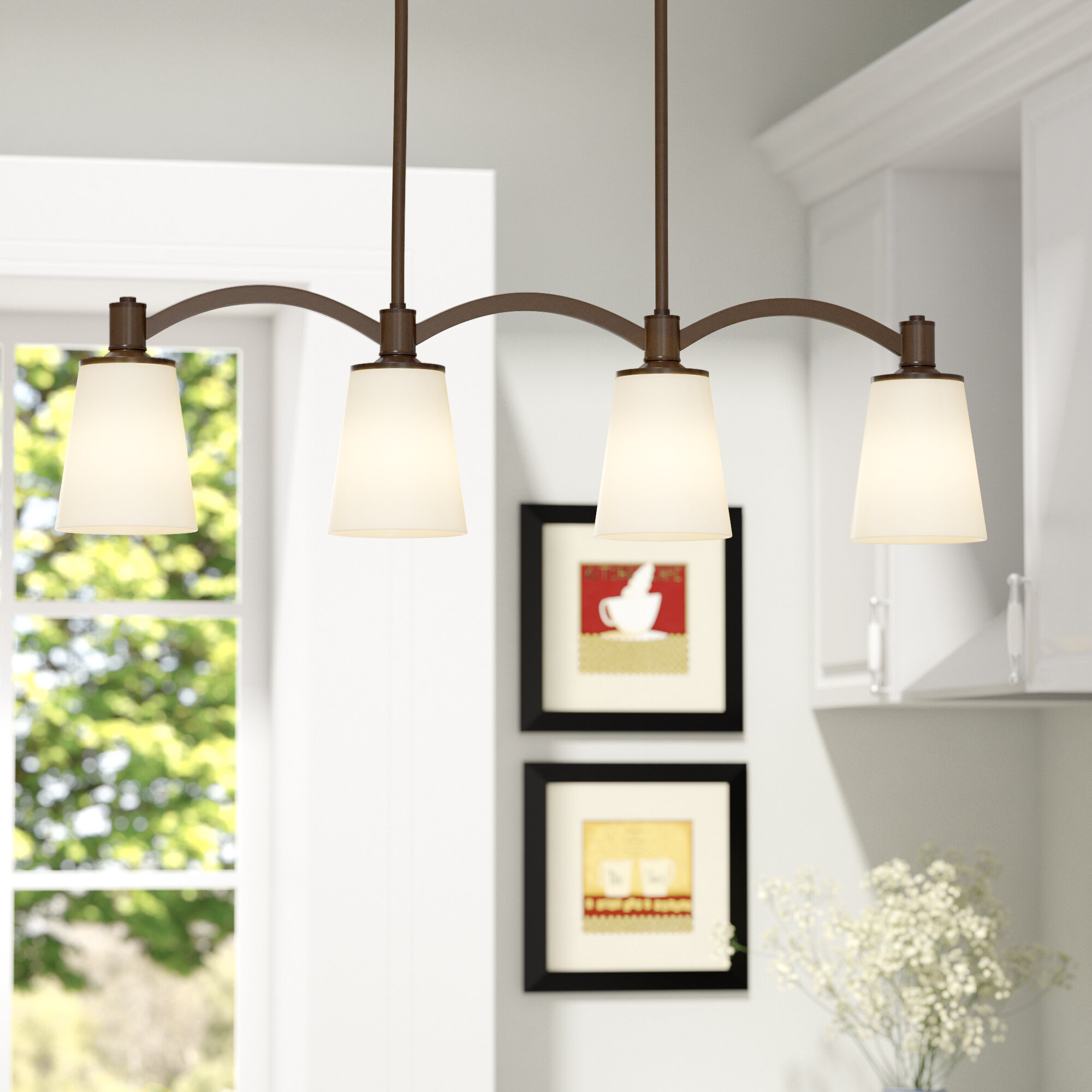 Kitchen Island Lighting Youll Love Wayfair Extraordinary Pendant Light Wiring Kit Pics Decoration Inspiration Quickview