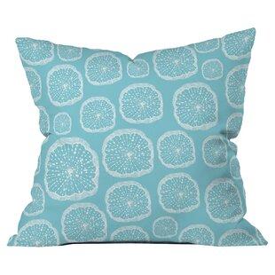 Rachael Taylor Wheel of Wonder Turquoise Outdoor Throw Pillow