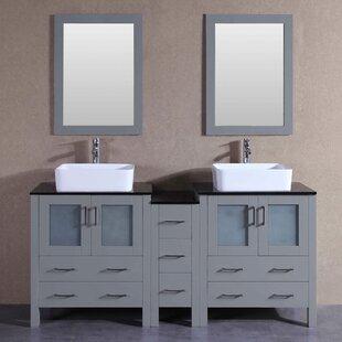 Essie 71 Double Bathroom Vanity Set with Mirror by Bosconi