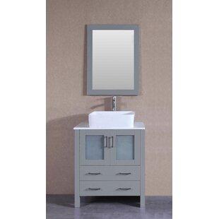Best Reviews Independence 30 Single Bathroom Vanity Set with Mirror ByHighland Dunes