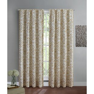 Jurado Nature/Floral Room Darkening Thermal Rod Pocket Single Curtain Panel by Ophelia & Co.