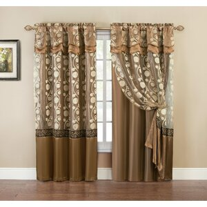 Arlingham Semi-Sheer Rod Pocket Single Curtain Panel