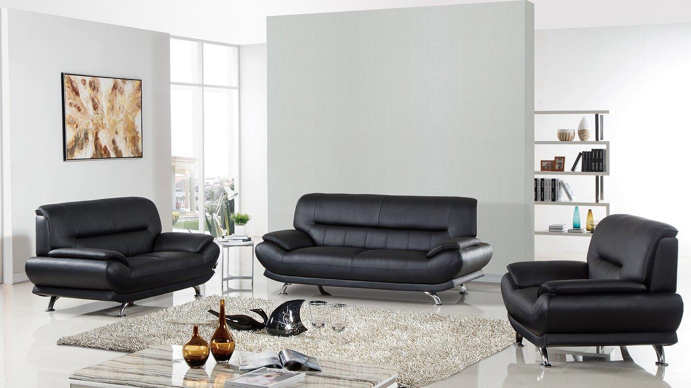 Arcadia Leather 3 Piece Living Room Set Part 59
