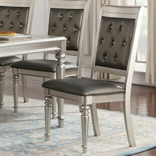 Donatella Tufted Upholstered Dining Chair (Set of 2) House of Hampton