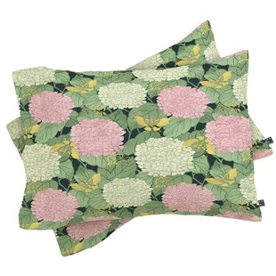 Hydrangea and Butterflies Pillowcase (Set of 2)