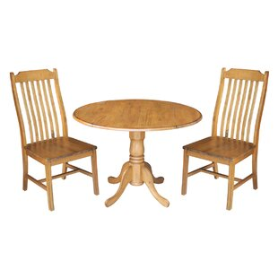 Tippecanoe 3 Piece Dining Set Loon Peak